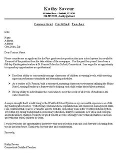 13 Best Teacher Cover Letters images in 2013 | Cover letter ...