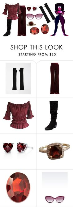 """""""Garnet: crystal gems"""" by david-strider-coolguy ❤ liked on Polyvore featuring Maison Margiela, Emilio Pucci, Therapy, Augustine Jewels, Loquet and Emporio Armani"""