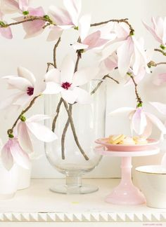 These magnolia flowers look so real. This paper flower tutorial you won't want to miss. I made this flower out of watercolor flower petals and added them to a tree branch, and you have lifelike flowers that you can make from paper. Paper Flower Tutorial, Paper Flowers Diy, Handmade Flowers, Flower Crafts, Diy Paper, Fabric Flowers, Paper Art, Diy Home Crafts, Diy Craft Projects