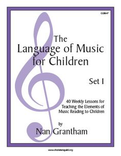 CGBK47 The Language of Music for Children Set I Book  Love this music literacy resource for children. Music education in the form of games and fun.