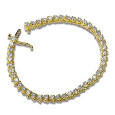 Ebay NissoniJewelry presents - Ladies' 5CT Diamond Tennis Bracelet in 14k Yellow Gold    Model Number:BRV0256U-Y432    http://www.ebay.com/itm/Ladies-5CT-Diamond-Tennis-Bracelet-in-14k-Yellow-Gold/221630576968