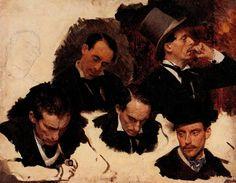 Studies by Ilya Repin.