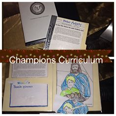 The Champions Curriculum was written specifically for students with special needs. It provides them access to the same Biblical teaching as their peers. Since our students with special needs often require repetition to master the concepts taught, we make folder activities like the one pictured here to reteach the lesson.