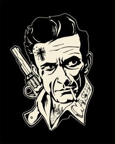 Commemorative art for Johnny Cash