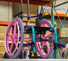 See I just want a super colorful pink wheelchair~ . I think this is only in kid's sizes though~ . Walker Accessories, Wheelchair Accessories, Pediatric Wheelchair, Wheelchair Cushions, Manual Wheelchair, Scooter Motorcycle, Nursing Supplies, Purple Accents, Truck Wheels