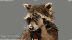 """lwitch: """"THIS IS THE CUTEST GIF EVER! """" Hey, I thought I had all of these. Thanks for posting! And he does a bit of the """"Lick his hands and groom his muzzle"""" stuff in the campfire scene in right. Rocket Raccoon, Racoon, Best Marvel Characters, Marvel Films, Marvel Heroes, Marvel Avengers, Mantis Marvel, Gif Lindos, Superhero Man"""