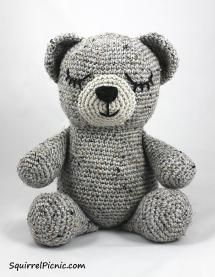 10 FREE Teddy Bear Crochet Patterns: Sleepy Bear Free Crochet Pattern