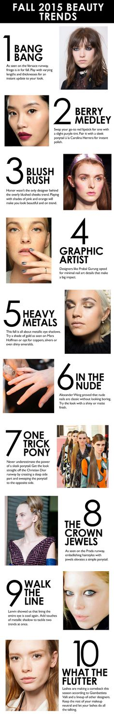 Our guide to EVERY fall beauty trend you need to know.