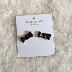 ♥️SALE♥️Kate Spade Stud Bow Earrings Kate Spade Stud Bow Earrings in black and Gold super cute kate spade Jewelry Earrings