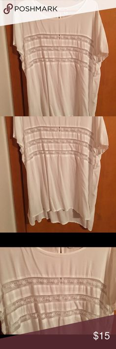 Old Navy Summer Top Very sheer. Cute lace detail. Never worn. Old Navy Tops Blouses