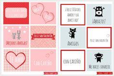 Free Valentine's Day cards or stickers in Spanish. Feliz Dia de San Valentin! SpanglishBaby.com