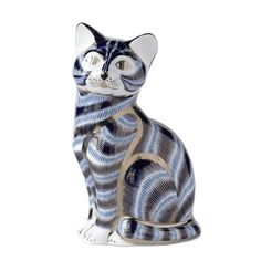 Silver Tabby Cat, Royal Crown Derby