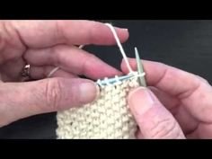How to Knit Bind Off in Pattern - Seed Stitch