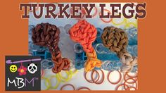 Rainbow Loom Band Thanksgiving Turkey Leg Charm tutorial by Made By Mommy.