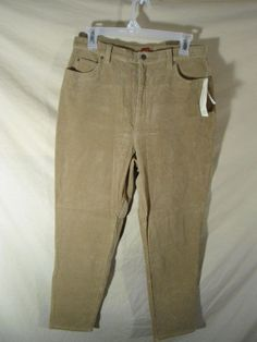 "NEW Valerie Stevens Women's Corduroy Jeans Pants Tan Stretch-sz 8 P x29"" $53 TAG #ValerieStevens #Corduroys"