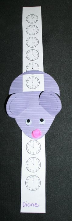 The mouse ran down the clock Hickory dickory dock.  (could use just numbers for the toddlers)