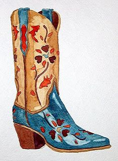Watercolor - These boots are made for gawking series
