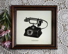 Vintage Telephone Telephone Decor Retro Art Print by GalGallery