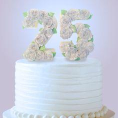25th Anniversary Cake Topper - 25th Birthday Cake Topper - Edible Cake Topper - Silver Anniversary Cake Decoration - Chocolate Cake Topper by DiamondChocolates on Etsy