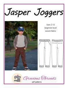 I am very excited to introduce the latest pattern from the Gracious Threads' fall/winter collection: the Jasper Joggers! These pants are drafted with your boys in mind (although they look wonderful on a girl as well!) The Jasper Joggers are slim fit joggers sewn out of woven fabric. The trendy design features faux welt pockets …