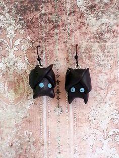 Boucles d'oreilles chauve souris