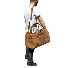 Genuine Leather Travel Bag Vintage Duffle Men's Gym Cabin Luggage Holdall CHRISTMAS SALE Gifts for men *** Trust me, this is great! Click the image. : Christmas Luggage and Travel Gear Vintage Leather Backpack, Leather Duffle Bag, Designer Leather Handbags, Tote Backpack, Leather Bags Handmade, Fashion Handbags, Travel Bag, Real Leather, Leather Shoulder Bag