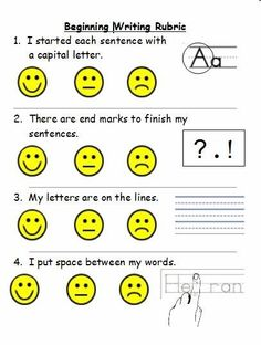 Primary Writing Rubric