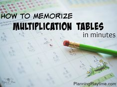 Check out this fast and easy way to memorize multiplication tables - Skip counting to simple tunes your children already know. It's amazing!!