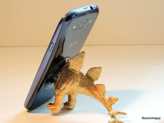 Unique smart phone dinosaur stand. I Phone dock I by BloominHappy1 $15