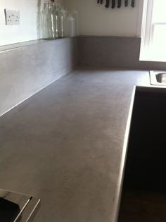 Work tops made by Crete craft. Very happy. Work Tops, Tile Floor, Concrete, Layers, Relax, Happy, Crafts, Layering, Happy Happy Happy