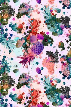 Shelley Steer - pineapple and crazy colour digital artwork. http://obus.com.au/