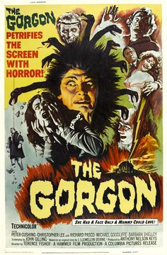 vintage horror movie posters | Vintage Horror Films: The Gorgon (1964)