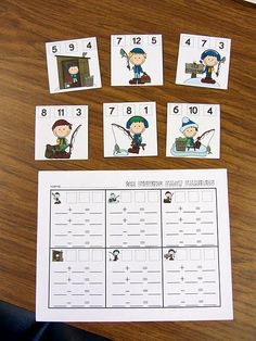 Winter Fact Families...give the students 3 numbers on a card, they write the addition and subtraction facts