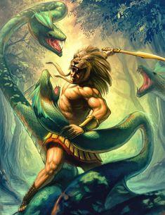 Greek Mythology: Twelve Labors of Hercules Hercules Mythology, Greek Mythology Tattoos, Greek And Roman Mythology, Greek Gods And Goddesses, Greek Warrior, Fantasy Warrior, Hercules Tattoo, Labors Of Hercules, Roman Gods