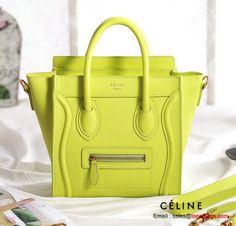 Celine Luggage Nano Bag Original Leather Light Yellow