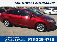 2013 *Ford*  *Focus* *4dr* *sedan* *SE*  33k miles $10,995 33880 miles 915-229-4735  #Ford #Focus #used #cars #SouthwestAutoGroupofElPaso #ElPaso #TX #tapcars