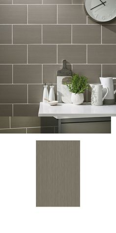 Refresh the wall spaces throughout your home with these charming Cotton Soft Grey Tiles. In their cool colour, these ceramic wall tiles have a contemporary linear design with a reflective lustre; adding an enchanting finish to your bathroom and kitchen walls.