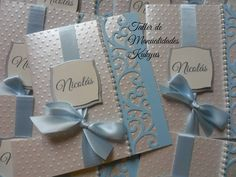 Risultati immagini per card bautizo Baptism Invitations, Gold Wedding Invitations, Baby Shower Invitations, Invitation Cards, Baptism Cards, Baptism Favors, Baby Baptism, Baby Boy Cards, Spellbinders Cards