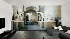 papier peint pour salon moderne par Glamora