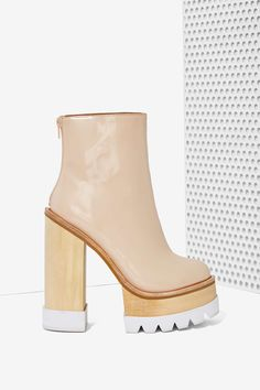 Jeffrey Campbell Mulder Platform Boot - Nude | Shop What's New at Nasty Gal