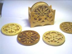 Fretted Coasters - Scroll Saw Woodworking & Crafts Photo Gallery