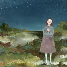 giclee art print - allison wished on every star - limited edition giclee print of original oil painting