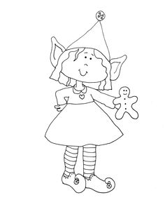 coloring pages girl elf - photo#25