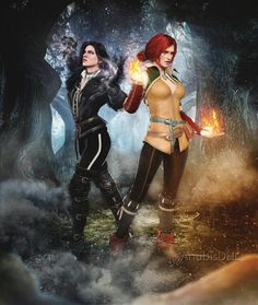 Yennefer of Vengerberg & Triss Merigold