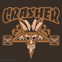 CRASHER By manospd, today at The Yetee! #CRASHBANDICOOT #VIDEOGAME #VIDEOGAMES #GAMING #APPAREL #TSHIRT #TEE