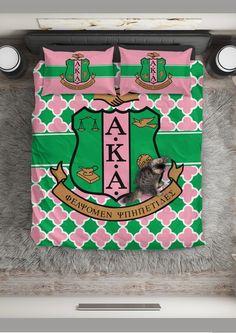 aaaa427e96b6 Alpha Kappa Alpha Bedding Set