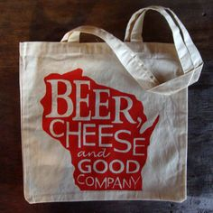 Zany Du Designs Wisconsin tote bag, $11 (Made in Whitewater, Wisconsin) #madeinusa #madeinamerica