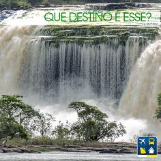 Dica: esta cachoeira pertence ao mesmo parque de preservação onde está localizada a mais alta queda d'água do mundo.  Quem já descobriu onde fica esse paraíso? RESP: Parque Nacional de Canaima, Venezuela.