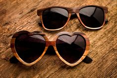 Falling hard for these wood veneer sunnies, handcrafted in Tennessee