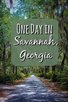 One Day in Savannah, Georgia